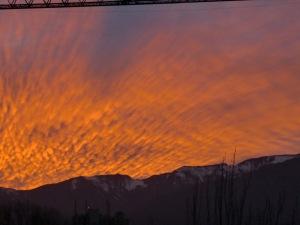 Amanecer en Santiago de Chile