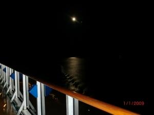 luna en el Pacífico