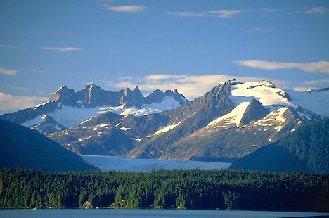Mendenhall Glacier and Coast Mountains